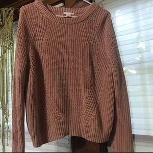 H&M Light Pink Sweater Size Large